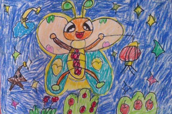 萤火虫-蜡笔画图集