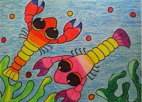 虾-蜡笔画图集图片_儿童蜡笔画_少儿图库_中国儿童