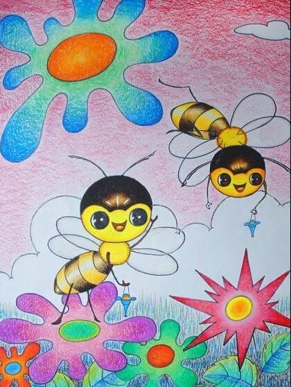 蚂蚁-蜡笔画图集图片_儿童蜡笔画_少儿图库_中国儿童图片