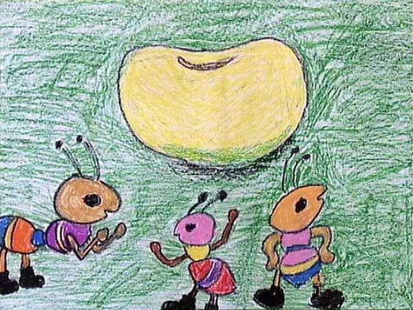 蚂蚁-蜡笔画图集