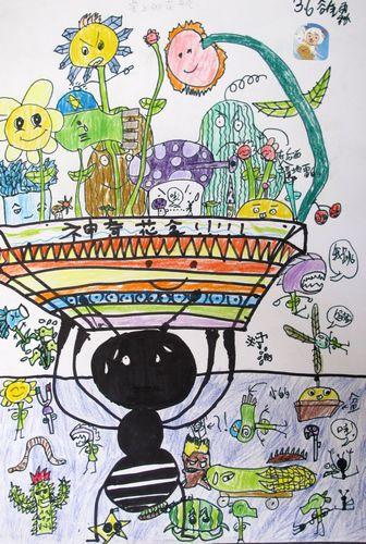 蚂蚁-蜡笔画图集图片_儿童蜡笔画_少儿图库_中国儿童