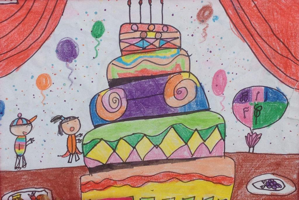 蛋糕-蜡笔画图集