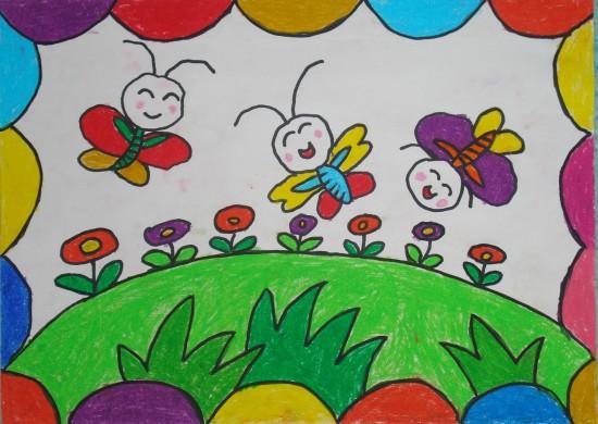 蜜蜂-蠟筆畫圖集