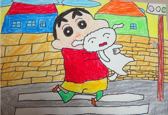 蜡笔小新-蜡笔画图集图片_儿童蜡笔画_少儿图库_中国