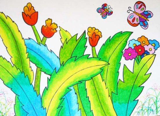蝴蝶-蜡笔画图集