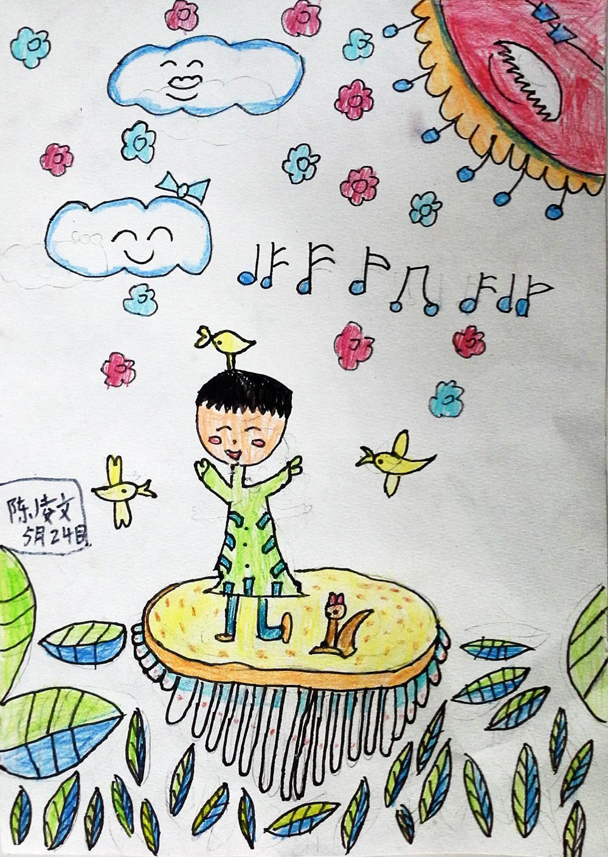 跳舞-蜡笔画图集图片_儿童蜡笔画_少儿图库_中国儿童