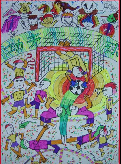 运动-蜡笔画图集图片_儿童蜡笔画