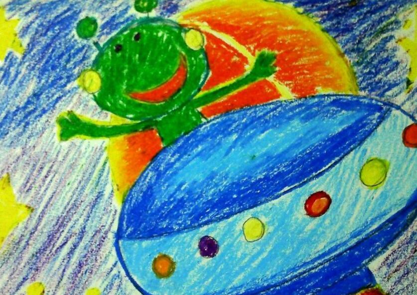 青蛙-蜡笔画图集图片_儿童蜡笔画_少儿图库_中国儿童