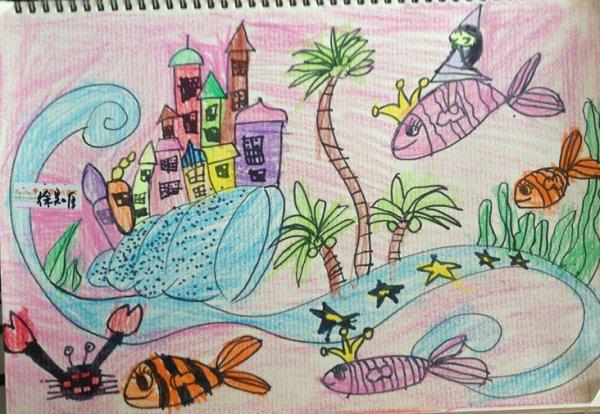 幼儿城堡彩色简笔画