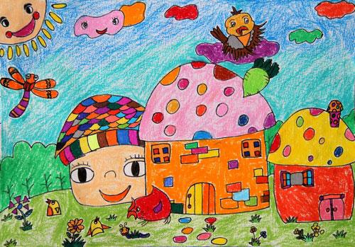 风景-蜡笔画图集图片_儿童蜡笔画_少儿图库_中国儿童