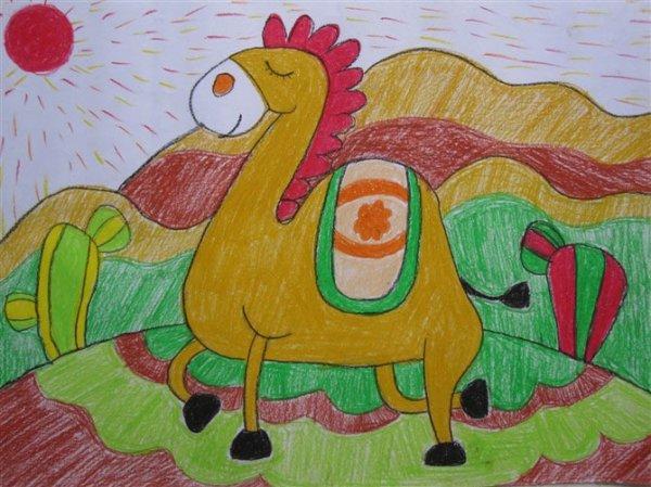 骆驼-蜡笔画图集图片_儿童蜡笔画_少儿图库_中国儿童