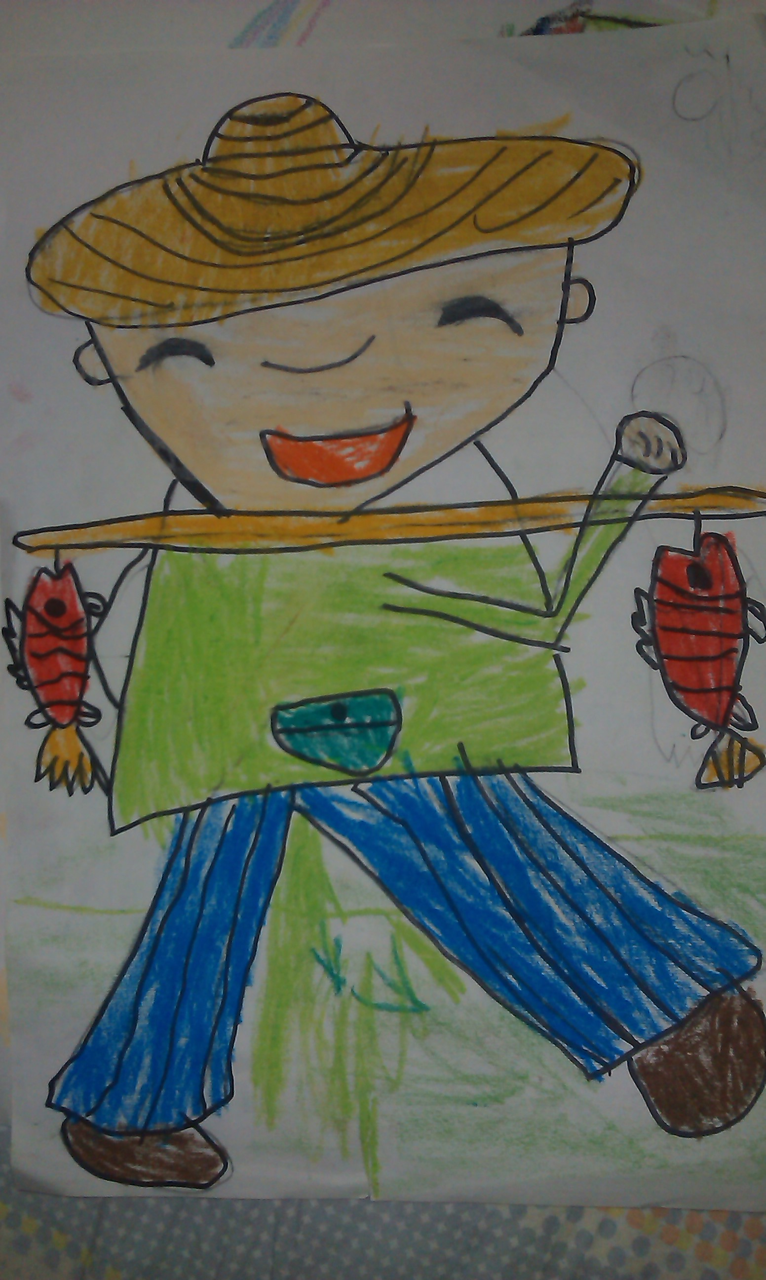 鱼-蜡笔画图集