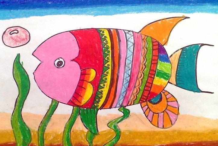 鱼-蜡笔画图集图片_儿童蜡笔画_少儿图库_中国儿童